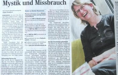 Anette Huesmann in den Weinheimer Nachrichten