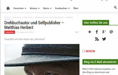Interview mit Matthias Herbert auf dem Blog